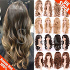 Fashion Women Long Hair Full Wig Natural Curly Wavy Straight Synthetic Full Wigs