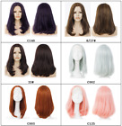 """Top Quality! 17"""" long straight BOBO black red brown pink heat resistant hair wig"""