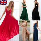 UK Stock Women Formal Long Dress Prom Evening Party Cocktail Bridesmaid Wedding