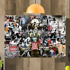 Banksy Collage Montage Canvas Wall Art Picture A4 A3 A2 A1 Print Ready To Hang