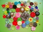 A lot of 80 vintage/modern flower buttons for crafting / jewellery etc