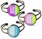 Big Sister Cuff Bracelet Bronze Resin Dome Handcrafted New Baby Family Love Gift