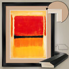 """32W""""x40H"""": ORANGE YELLOW WHITE RED by MARK ROTHKO - DOUBLE MATTE, GLASS & FRAME"""