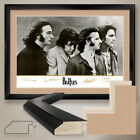 """40W""""x32H"""": THE BEATLES FAB FOUR by APPLE RECORDS - DOUBLE MATTE, GLASS and FRAME"""