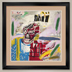 """35W""""x35H"""": RED SKULL by JEAN-MICHEL BASQUIAT - DOUBLE MATTE, GLASS and FRAME"""