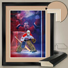 """32W""""x40H"""": PATRICK ROY - MONTREAL CANADIENS HABS - DOUBLE MATTE, GLASS $179.0 USD on eBay"""