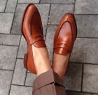 Handmade Mens Loafers Brown shoes Mens shoes mens Dress/office shoes