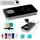 2 in 1 Qi Wireless Charger 5000mA Power Bank USB charge for iPhone Apple Watch