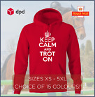 KEEP CALM AND TROT ON unisex hoodie hoody horse equestrian horseriding S - 5XL
