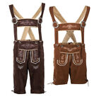 Внешний вид - German Bavarian Trachten Oktoberfest Mens Lederhosen Beer Guys Suspender Shorts