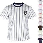 KH2008 Detroit Tigers Striped Baseball Jersey T-Shirts Tee Uniform Dry Cool 0102 on Ebay