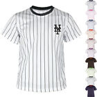 New New York Mets NY Striped Baseball Jersey T-Shirts Tee Uniform Dry Cool 0109 on Ebay