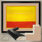 """40W""""x32H"""" UNTITLED 1952 YELLOW ORANGE by MARK ROTHKO DOUBLE MATTE, GLASS & FRAME"""