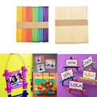50/100Pcs Wooden Popsicle Sticks for Party Kids DIYCrafts Ice Cream Pop GY
