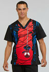 Внешний вид - Spiderman Cherokee Scrubs Tooniforms Marvel Mens V Neck Top TF700 MAHA