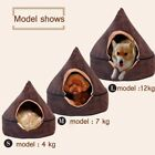 Pet Dog House Kennel Soft Igloo Beds Cave Cat Puppy Bed Doggy Cozy Warm Cushion