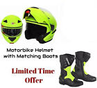 ProFirst Motorbike Helmet with Boots Protection Shoes Motorcycle Scooter Flip
