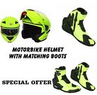 Motorbike Flip up Helmet Modeler with Boots Protection Shoes Motorcycle Scooter