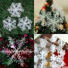 60pcs White Snowflake Ornaments Christmas Tree Decorations Home Festival Decor