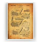 Golf Club Patent Print - Sports Dad Father Woman Poster Wall Art Gift - Unframed