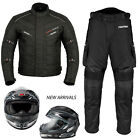 Motorbike Textile Waterproof Suit with Full face Helmet Motorcycle Jacket Pant