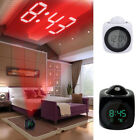 Digital Alarm Clock Multifunction With Voice LED Projection Temperature Z0HWC