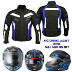 Full Face Motorcycle Motorbike Helmet On Road Crash Waterproof Racing Jacket Men