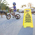 Caution Kids and Pets at Play- Folding Safety Sign Warning Bright 2 Sided
