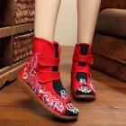 Women's Narional Flowers Chinese Embroidered Boots Ankle Oxfords Shoes Shop6