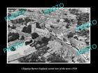 OLD LARGE HISTORIC PHOTO OF CHIPPING BARNET ENGLAND, AERIAL VIEW OF TOWN c1920