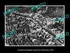 OLD LARGE HISTORIC PHOTO OF LEOMINSTER ENGLAND, AERIAL VIEW OF THE TOWN c1920 3