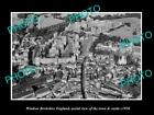 OLD LARGE HISTORIC PHOTO OF WINDSOR ENGLAND, AERIAL VIEW OF TOWN & CASTLE 1950 1