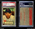 1952 Topps #142 Harry Perkowski Gray Back Reds PSA 5 - EX