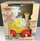 Vintage Lil Choo The Happy Engine Pull Toy Squeeze By Arrow In Original Box