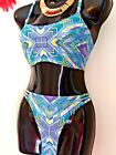 NEXT 34C/D TOP & 10 BOTTOM EMBELLISHED SOFT CUP WIRED CROP BIKINI SET RRP £42