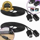 2x 10FT Extension Long Cable for Nintendo NES Super NES Wii U Remote Controller