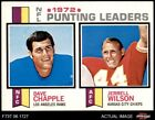 1973 Topps #6 Dave Chapple / Jerrell Wilson - Punting Leader Rams / Chiefs NM/MT