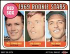 1969 Topps #628 Billy Conigliaro / Syd O'Brien / Fred Wenz - Red Sox Rooki VG/EX