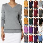 TheMogan Button Long Sleeve V-Neck Loose Fit Knit Pullover Sweater Top