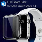 For Apple Watch Series 4/ 3/ 2 38/42mm Slim Full Body Clear Soft TPU Case Cover