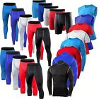 Mens Compression Shorts Pants Shirt Vest Base Layers Tights Workout Gym Clothes