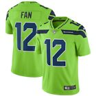 Fan 12 Seattle Seahawks Mens Mens Green Rush Home Game Team Color Jersey