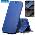 For iPhone 11 Pro Xs Max XR Genuine X-Level Leather Flip Wallet Stand Case Cover