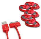 5 6FT USB SYNC DATA POWER CHARGER CABLE APPLE IPAD IPHONE 4S 4 3G IPOD NANO RED