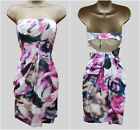 New KAREN MILLEN Silk BNWT £175 Rose Floral Print Corset Strapless Party Dress