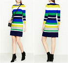 New KAREN MILLEN Stripe BNWT £130 Evening Bodycon Bandage Club Party Knit Dress