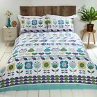 Rapport Hygge Blue / Multi Floral Fun Duvet Cover Bedding Single Double King