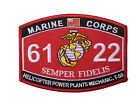 Marine corps 6122 Heliopter Power Plants Embroidered Sew Iron on Patch- PA167