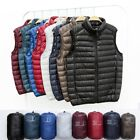 Men Winter Waistcoat Light Down Puffer Gilet Vest Jacket Coat Slim Outwear
