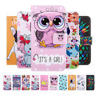 For iPhone Xs/Xs Max/XR Cute Pattern Leather Flip Card Wallet Stand Case Cover